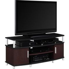 """Carson TV Stand 50 """" Entertainment Center Media Modern Console Black Furniture for sale online Tv Stand And Entertainment Center, Diy Entertainment Center, Entertainment Weekly, Entertainment System, Entertainment Furniture, Living At Home, Living Room Sets, Bedroom Sets, Tv Stand Furniture"""