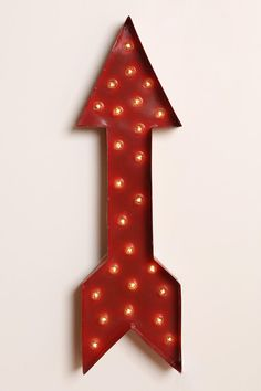 Marquee Arrow Light; recommended from a room design concept at work by @Jennifer Piesetzkie