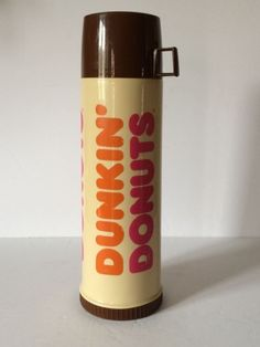 Dunkin Donuts Hot Cold Insulated Coffee Tea Soup Thermos Tall Screw Cap and Cup #DunkinDonutsThermos