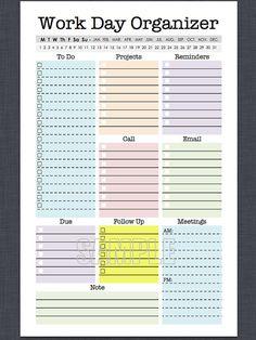 Mini Work Organizer Half Letter Size by FreshandOrganized