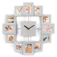 Take 12 of your favorite moments captured in time and enjoy them every hour. Framed in a modern silvertone, each photo gives you a delightful way to mark the passing time. $22.93