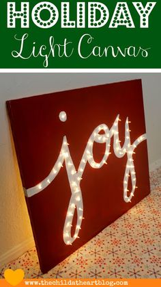 DIY Holiday light-up sign
