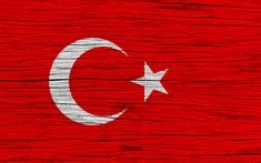 Download wallpapers Flag of Turkey, 4k, Asia, wooden texture, Turkish flag, national symbols, Turkey flag, art, Turkey
