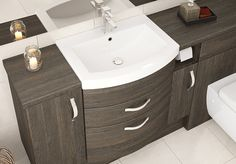 Mali Oak Fitted Bathroom Furniture - Our expertly designed and created curved basin units add that extra special detail. Fitted Bathroom Furniture, Modern Furniture, Home Furniture, Basin Unit, British Home, Downstairs Loo, Furniture Manufacturers, The Unit, Doors
