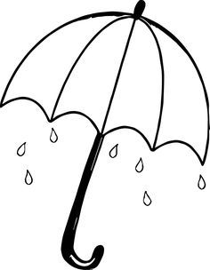 nice April Shower Umbrella Coloring Page Easy Coloring Pages, Printable Coloring Pages, Free Coloring, Coloring Pages For Kids, Coloring Books, Fairy Coloring, Kids Coloring, Printable Worksheets, Free Printable