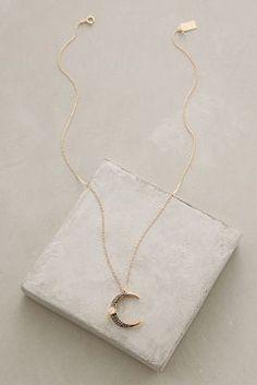 RueBelle Dusklight Diamond Crescent Necklace