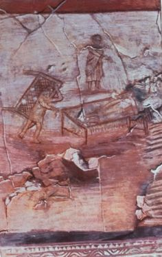 This wall painting, depicting the Healing of the Paralytic, is the earliest known representation of Jesus, dating from about 235 AD.