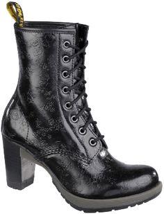 Dr Martens Dr. Martens Diva Darcie Flower Embossed Eight-Eye Boots,