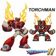 Megaman 11 - Torchman in 8bits