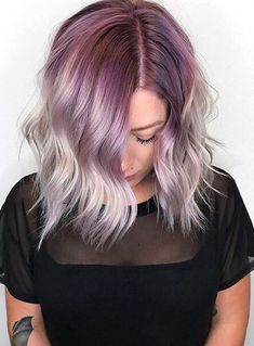 Purple platinum blonde 2017-2018 for women and girls to make them look gorgeous.