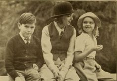Zasu Pitts with her children. The boy is the son of actress Barbara La Marr whom Zasu adopted after La Marr's death.