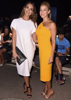 Wife of Jerry: That night, she was front row at the Narciso Rodriguez show at SIR Stage37 with Jessica Seinfeld (right)