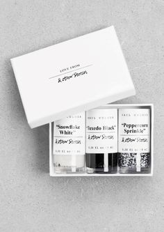 "& Other Stories | Nail Colour Gift Set - ""Salt & Pepper""."