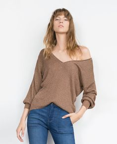Image 4 of DOUBLE V-NECK SWEATER from Zara
