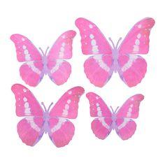 KÄRESTA Adorno, juego 4 IKEA Despliega con cuidado las alas de las mariposas para darles un efecto tridimensional y realista.