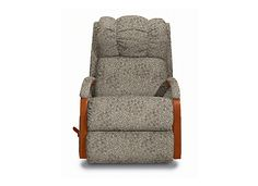 Lazy Boy Glider with grey fabric - Think I could paint the wood part white @Kim Salmon?