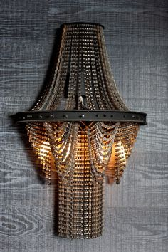 Bike chain chandelier - love  Facaro3