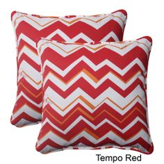 Pillow Perfect Tempo Polyester Square Corded Outdoor Throw Pillows (Set of 2) | Overstock.com Shopping - Big Discounts on Pillow Perfect Out...