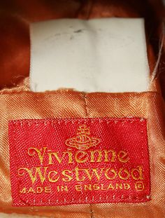 Vivienne Westwood. Made in England. Fall/winter 1987-88.