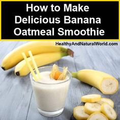 How to Make Delicious Banana Oatmeal Smoothie Ingredients: 2 whole Chiquita bananas (best with brown flecks on peel) 2 cups Ice 1/3 cup yogurt – preferably Greek yogurt flavored with honey 1/2 cup cooked oatmeal 1/3 cup almonds