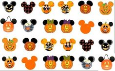 24 Halloween-Pumpkin-Face-Mickey-Head-DisneyNail Art