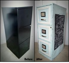 Painted File Cabinet | Bohemian Chic and Shabby Chic | Pinterest ...