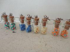 earings - fimo - tiny bottle