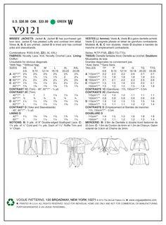 Vogue - 9121 kanten jasjes | Schnittmuster-online.com | nähen und schnitte online