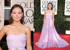 olivia wilde in violet gown at golden globes | Vote on all of my Golden Globe Awards polls here!