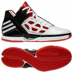 "Adidas Derrick Rose 2.0 ""Home"" White-Red-Black Hot Sale"