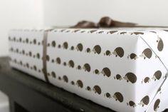 Hedgehog wrapping paper! by Kate & Birdie