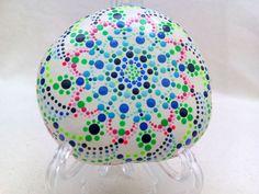 Handpainted stone Mandala Meditationstone Pebble by ColorBakalito