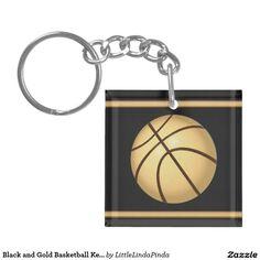 Black And Gold Basketball Keychains   Lanyards  68f1da796a