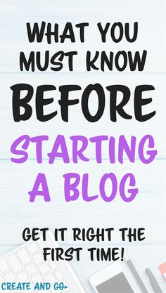 Learn our best tips for starting a blog and how to start a blog the RIGHT way based on the blogging mistakes that we made! #createandgo