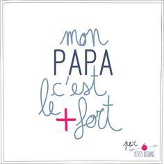 Fête des Pères - Carte de voeux - Illustration - Petits Béguins                                                                                                                                                                                 Plus