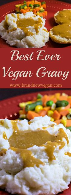 An easy, rich vegan gravy mix that literally takes minutes to prepare. Low in fa… An easy, rich vegan gravy mix that literally takes minutes to prepare. Low in fat and sodium this will be you're goto gravy mix from now on… Vegan Sauces, Vegan Foods, Vegan Dishes, Vegan Desserts, Fat Free Vegan, Vegan Gravy, Vegan Thanksgiving, Base Foods, Going Vegan