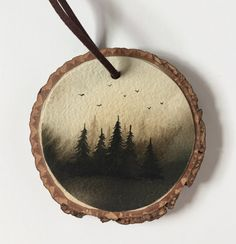 Tis the season to deck the halls and get in the holiday spirit. We have lined up our favorite picks from artisans to help create the perfect winter wonderland feel! Christmas Ornament Crafts, Christmas Wood, Ornaments Design, Wood Ornaments, Wood Painting Art, Wood Art, Wood Slice Crafts, Watercolor On Wood, Wood Burning Art