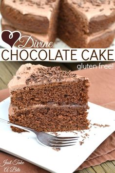 Divine Chocolate Cake   Just Take A Bite