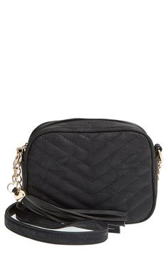 Lulu Chevron Quilted Faux Leather Crossbody Bag (Juniors) available at #Nordstrom
