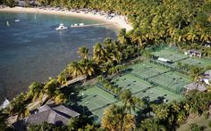 The world's best hotel tennis courts - Curtain Bluff Resort, Antigua