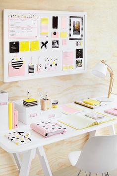 Home Office: Blonde Wood and Pastel Kikki K Essentials | Made From Scratch