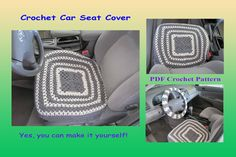 Crochet Pattern - Car Seat Cover