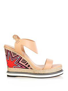 Leather and silk espadrille sandals | Nicholas Kirkwood | MATCHESFASHION.COM UK