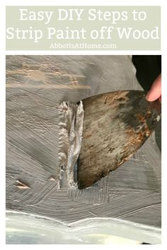 Easy DIY Steps for Stripping Paint from Wood Furniture using Citristrip. I love this tutorial for how to strip paint on wood furniture cabinets steps trim and floors. Treatment Projects Care Design home decor