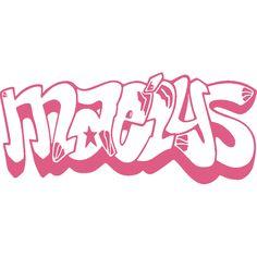 Sticker mural: personnalisation de Maélys Graffiti
