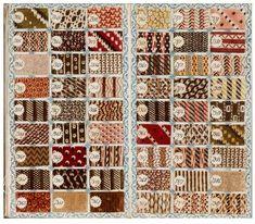 Des albums d'échantillons textiles, l'Europe et l'Amérique en ont produit des milliers et des milliers au XIXe siècle.