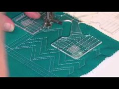 Westalee Design Mini Fills Templates - How to use the Zig Zag Mini Fill template on your Domestic Sewing Machine. From a set of 5 templates Mini Fills Collec...