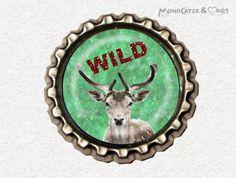 -s030- Kronkorken Magnet WILD , € 2,80 , bottlecap , erhältlich auf http://de.dawanda.com/shop/Mondcatze