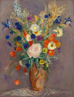 Jan Sluijters – Voorjaarsbloemen in een vaas