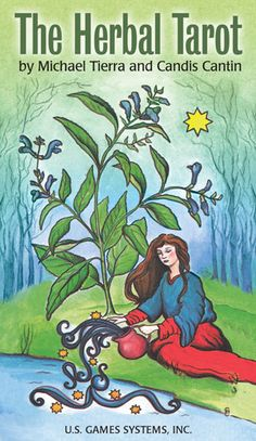 "Herbal Tarot follows the general assignments of the Rider-Waite deck, but each card is assigned an individual medicinal herb based upon intuition, astrological and energetic values. A different herb is pictured and identified on each card. According to the creators, ""The Herbal Tarot is a tool for studying the psycho-physical energy of herbs. Herbs, when joined with the tarot, can provide a symbolic material manifestation to accompany a specific divination."""